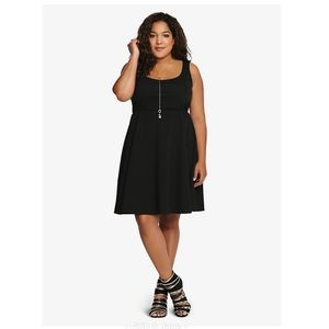 Torrid Textured Skater Dress Black Size 2X